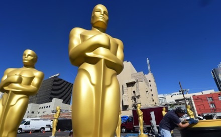Statues of the Oscar in Hollywood, California. Photo: AFP