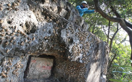 The remains of a military pillbox, one of the stops along the Wong Nai Chung Gap Heritage Trail. Photo: Jonathan Wong