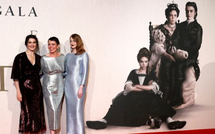 Actors Rachel Weisz, Olivia Colman and Emma Stone pose at the UK premiere of The Favourite. Photo: Reuters