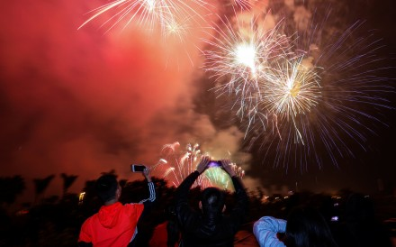 a99a52bc6 People celebrate Lunar New Year in Xiamen