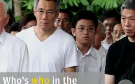 The relatives of Singapore's late founding leader have descended into publicly fighting over his estate. Here's how to tell your Lee Hsien Loong from your Lee Hsien Yang.