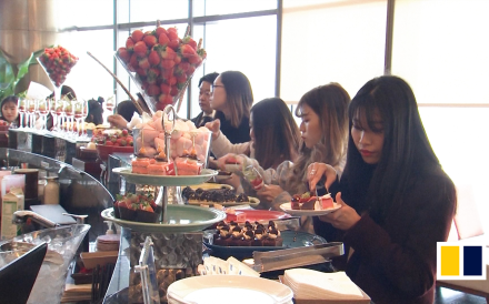 It's strawberry season in South Korea. And that means a boom for strawberry buffets offering all kinds of delicacies from strawberry pastries to strawberry chocolate.