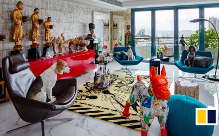 An art collector's new Pok Fu Lam penthouse has been turned into an extraordinary home-slash-gallery.