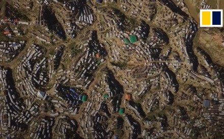 The United Nations High Commissioner for Refugees (UNHCR) released aerial footages of the Kutupalong refugee camp in Bangladesh filmed between September and November 2017.