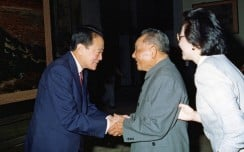Robert Kuok with Deng Xiaoping and his daughter Deng Rong in Beijing in 1990. Photo: Robert Kuok, A Memoir