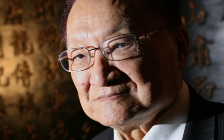 Interview with novelist Louis Cha. Photo: Oliver Tsang