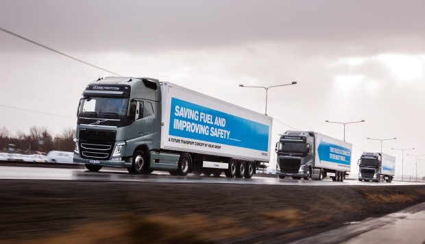 Semi-automated truck convoys get green light for trials on British highways