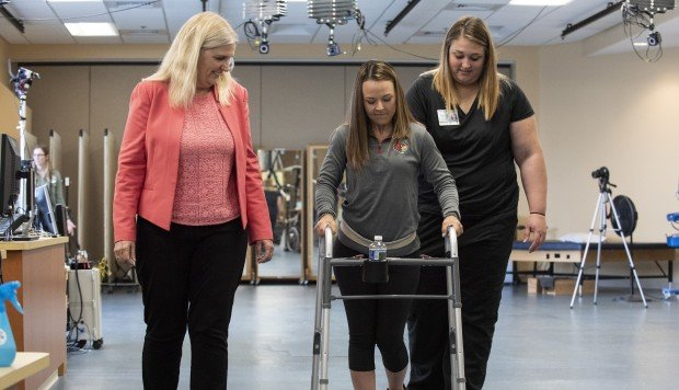 Revolutionary implant helps paralysed patients walk again
