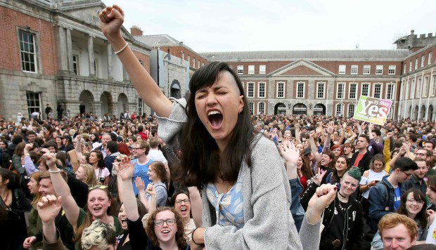 'Historic moment' as Irish parliament legalises abortion, after landslide referendum result: The new legislation permits terminations to be carried out up to 12 weeks into a pregnancy – or in conditions posing serious health risks to the woman.