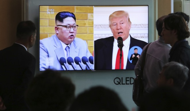 Trump said Tuesday a planned meeting with Kim in Singapore on June 12 could be delayed.
