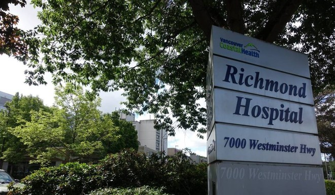 The Richmond Hospital, BC, where the 'overwhelming majority' of non-resident mothers say they are Chinese.