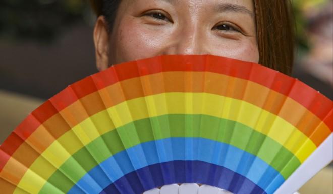 A participant in Shanghai Pride 2018.