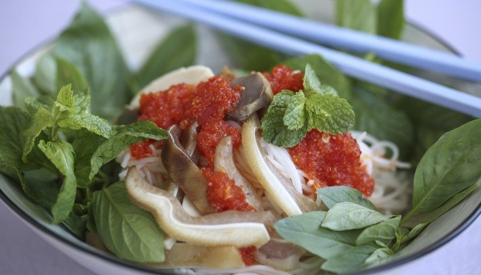 Susan Jung's recipe for Vietnamese rice vermicelli with pig's ears