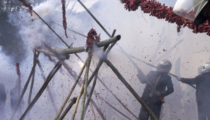 Lighting firecrackers and fireworks has long been a traditional part of the Lunar New Year festivities in China, but in a bid to tackle air pollution, the government has imposed wide-ranging restrictions on their use. Photo: Reuters