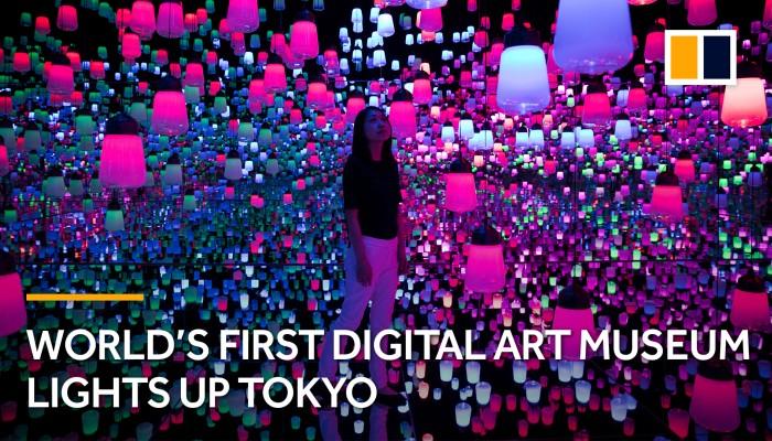 World's first digital art museum lights up Tokyo