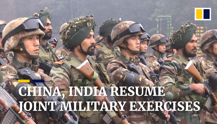 China and India resume annual joint military exercises   South China
