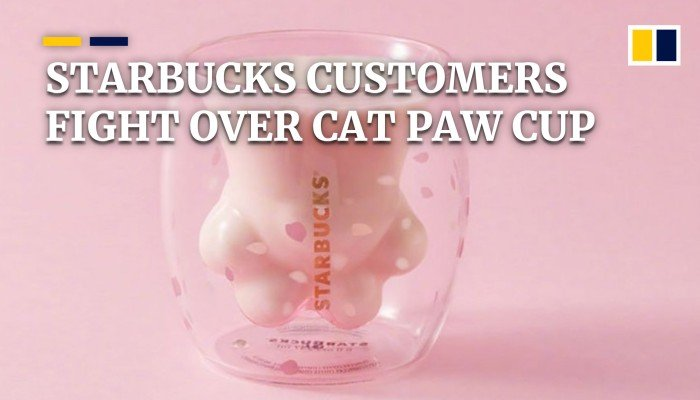Customers fight over Starbucks' limited edition cat paw cup