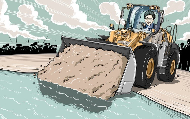 Hong Kong Leader Carrie Lam Bulldozes Ahead With Lantau Island Reclamation Idea...but At What Cost?