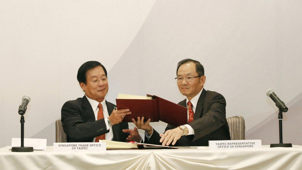 Taiwan Singapore Sign Free Trade Agreement South China Morning Post