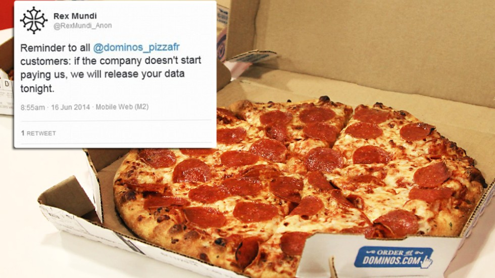 Dominos Pizza Held To Ransom By Hackers Over Customer Data South