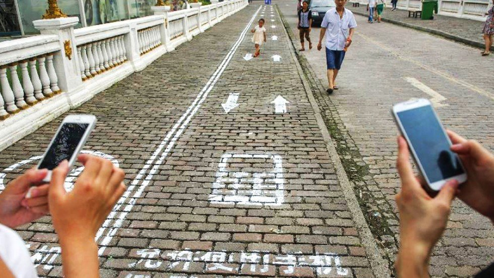 Will India become like China for constructing lanes for smart phone addicts?