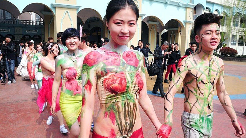 Phrase magnificent Couples nude body paint consider