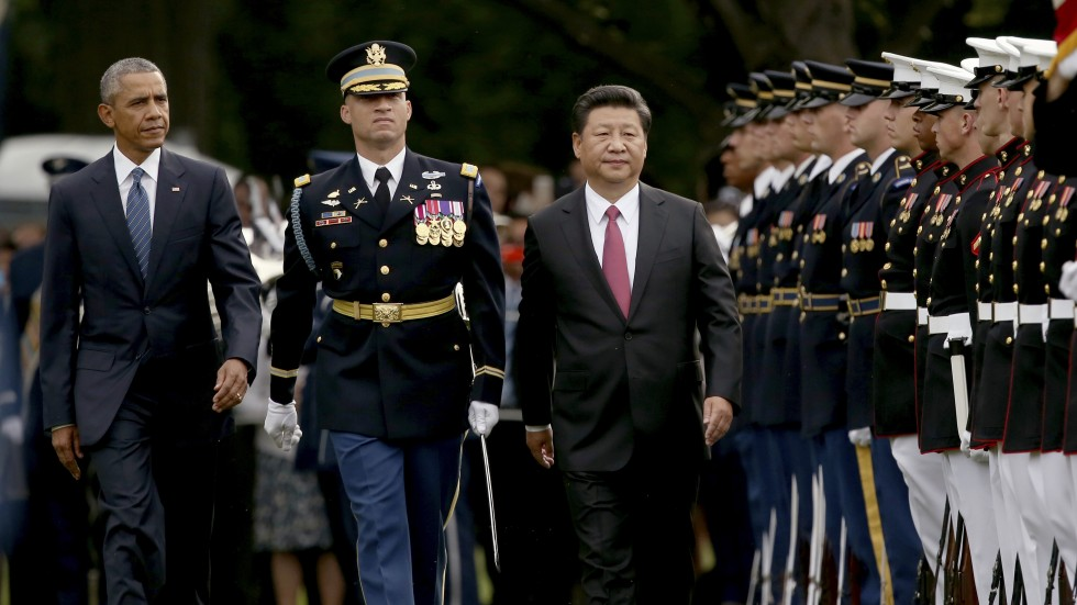 Pomp and ceremony as Obama and military honour guard ...