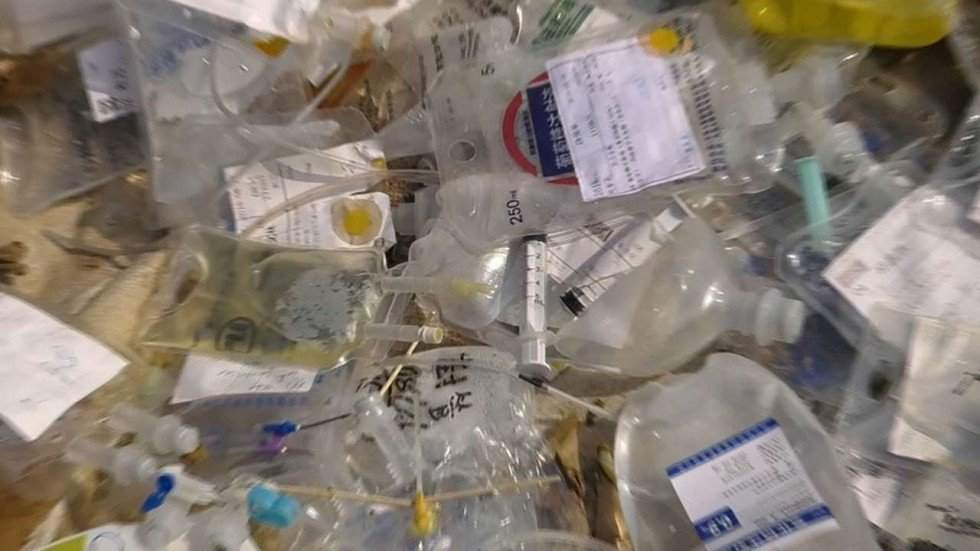 Chinese police bust plant recycling medical waste for use for Useful things from waste bottles