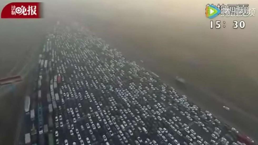 Αποτέλεσμα εικόνας για new year 2017 traffic jam china