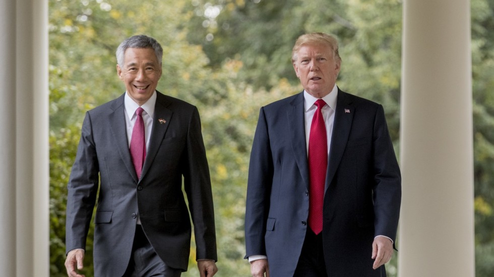 Image result for Lee Hsien Loong and Donald Trump
