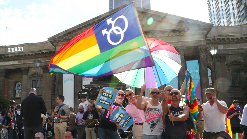 Emotional Celebrations As Australians Back Legalising Gay Marriage