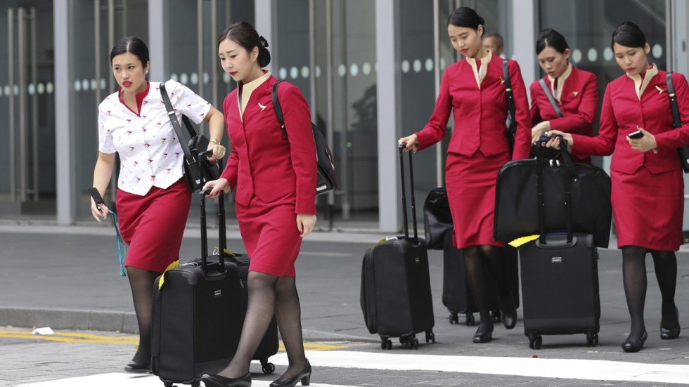 almost 3 000 female cabin crew in cathay pacific and cathay dragon