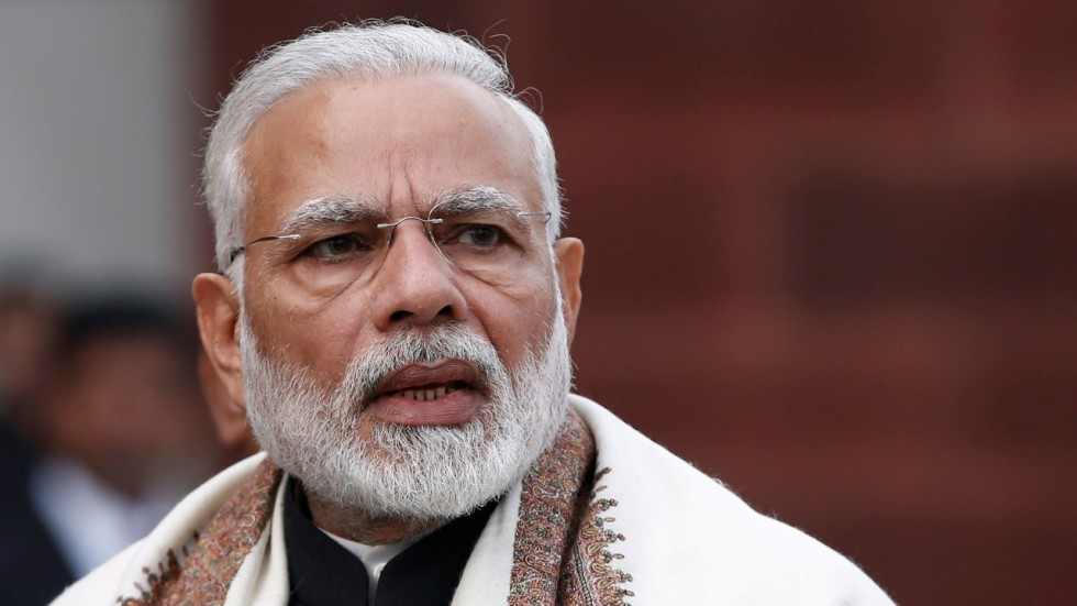 Indian Prime Minister Narendra Modi Leads Ruling Party Fast In