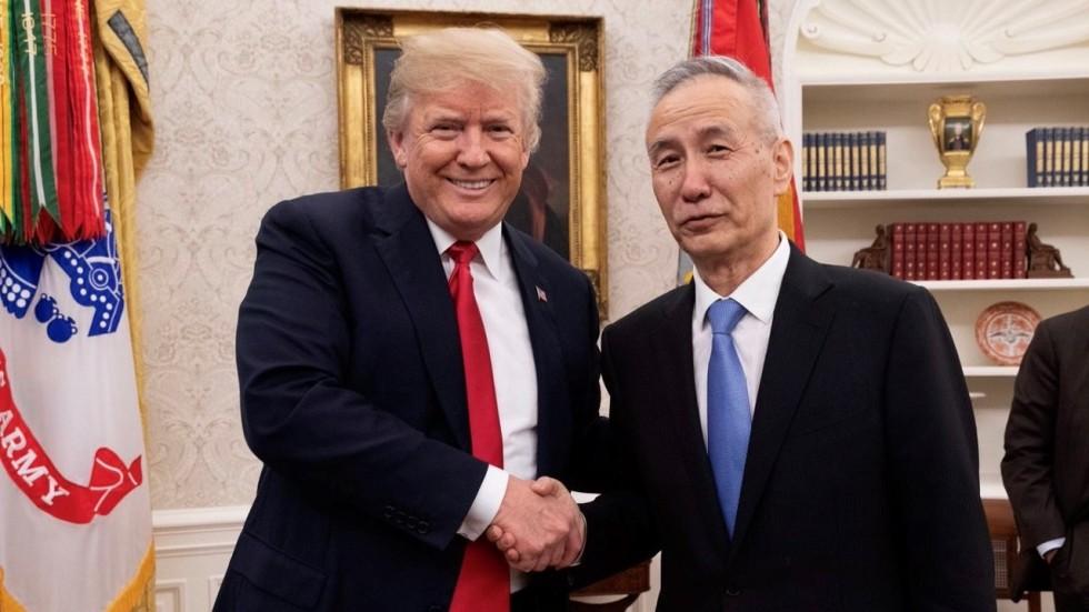 Image result for Liu He, white house, Donald Trump, Photos