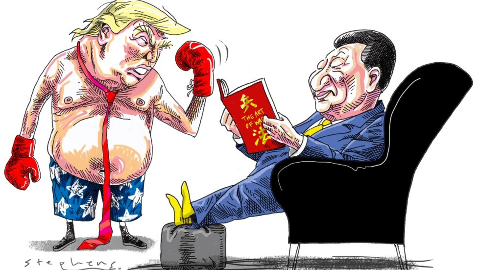 Image result for cartoons trump's trade war with russia