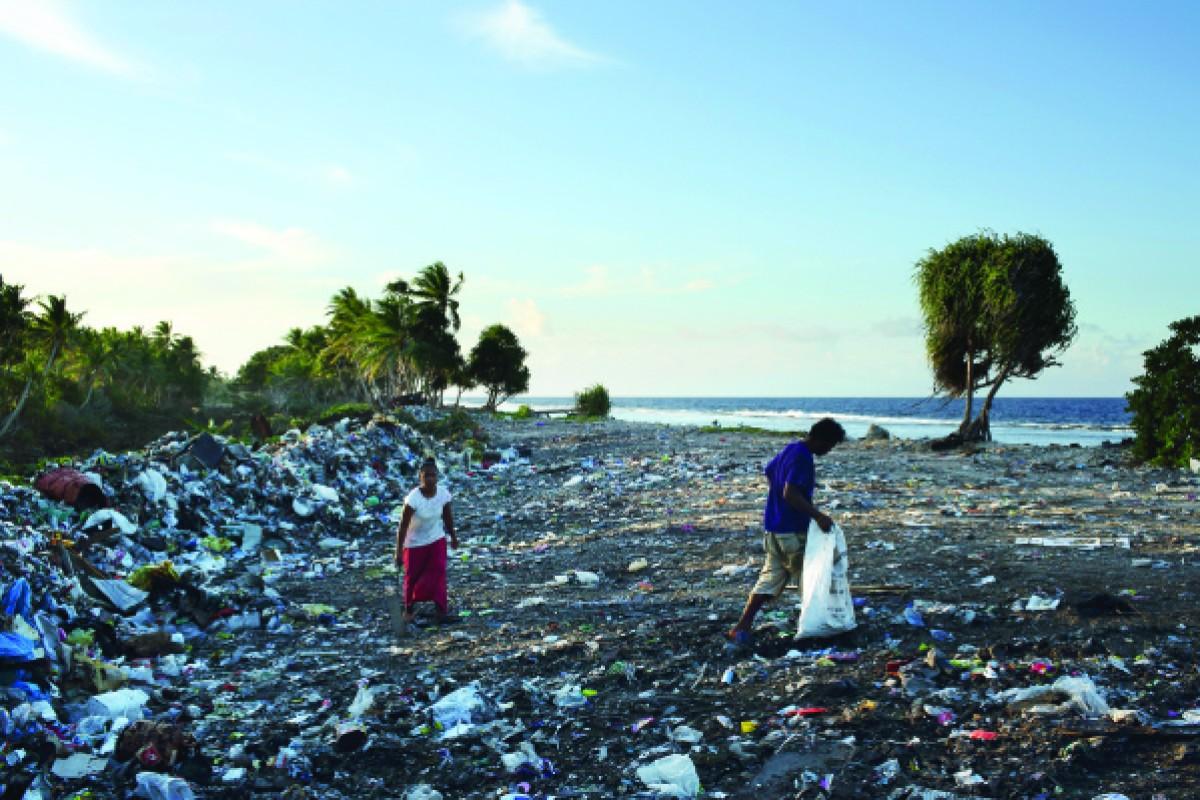 The rubbish dump on Funafuti.
