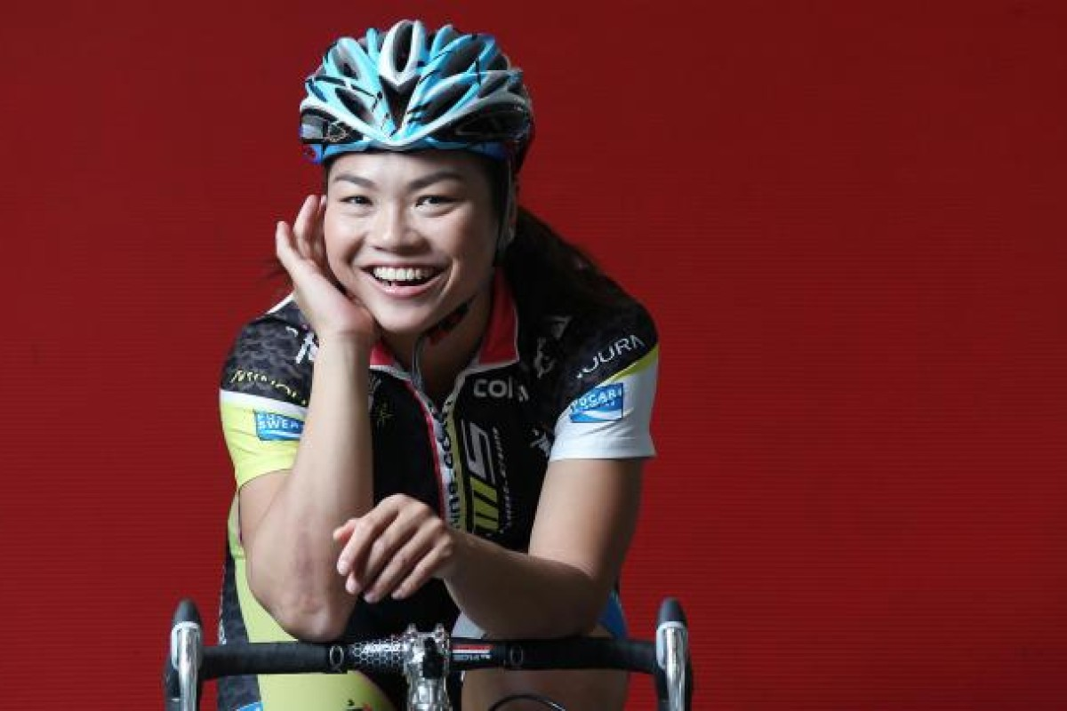Lee Wai-sze trains almost every day, working out and spending long hours on the bicycle, and discussing training routines and tactical approaches with her coach. Photo: SCMP
