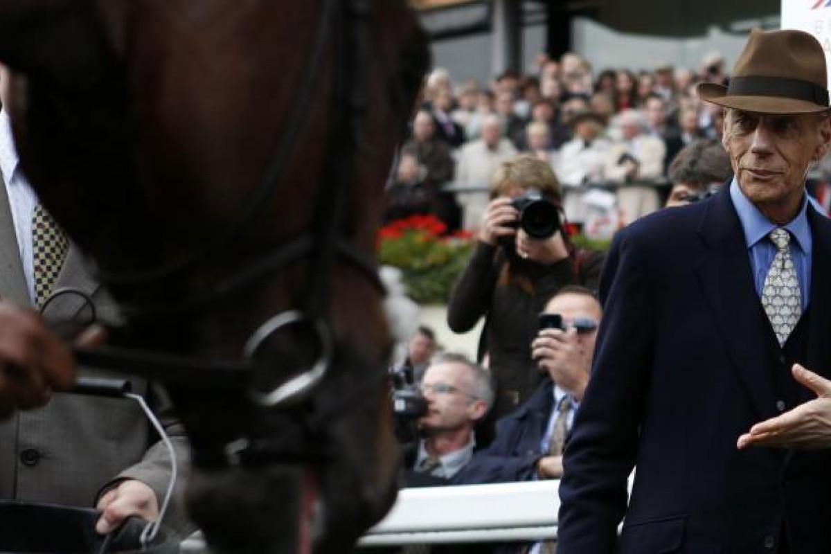Trainer Henry Cecil takes a close look at Frankel after his star claimed his 14th straight win in the Champion Stakes at Ascot. Cecil said of Frankel, 'he's the best that I have ever seen'. Photo: Reuters