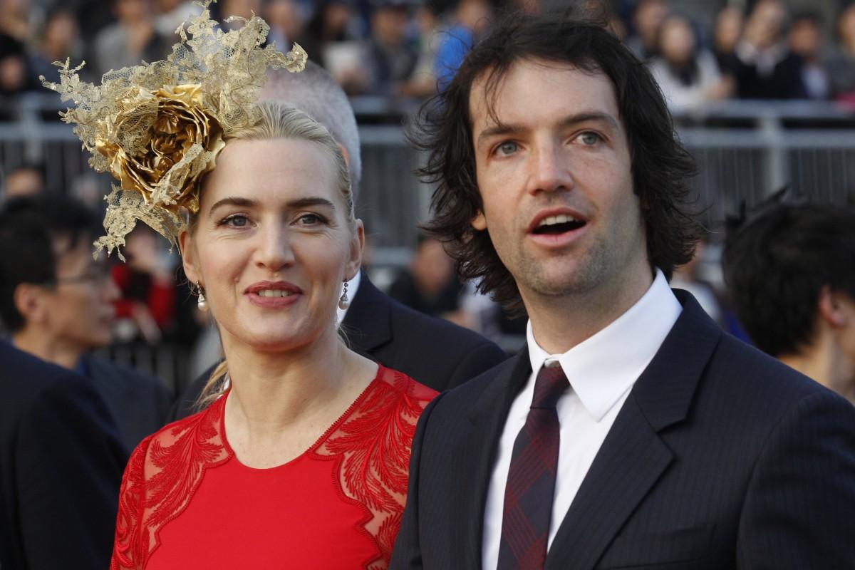 Kate Winslet arrives with her boyfriend Ned Rocknroll. Photo: AP