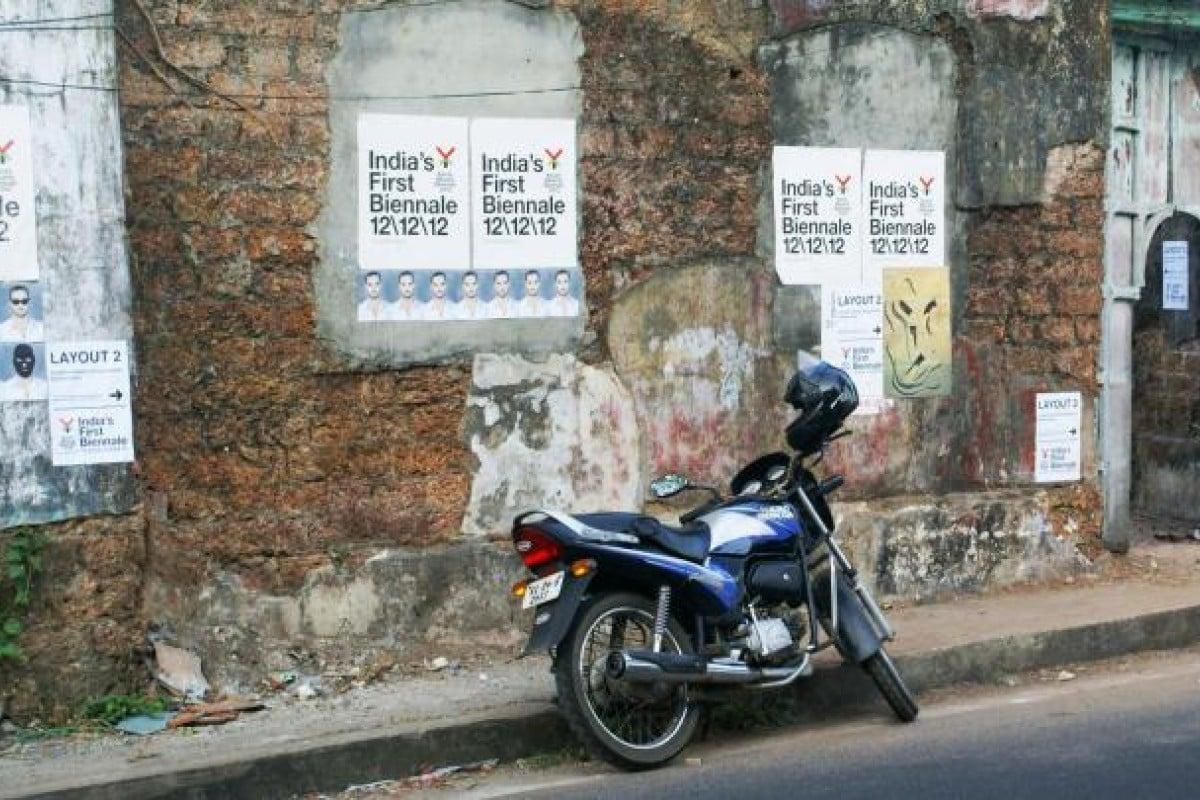 Car interior kochi - Kochi Muziris Biennale Posters Line The Streets