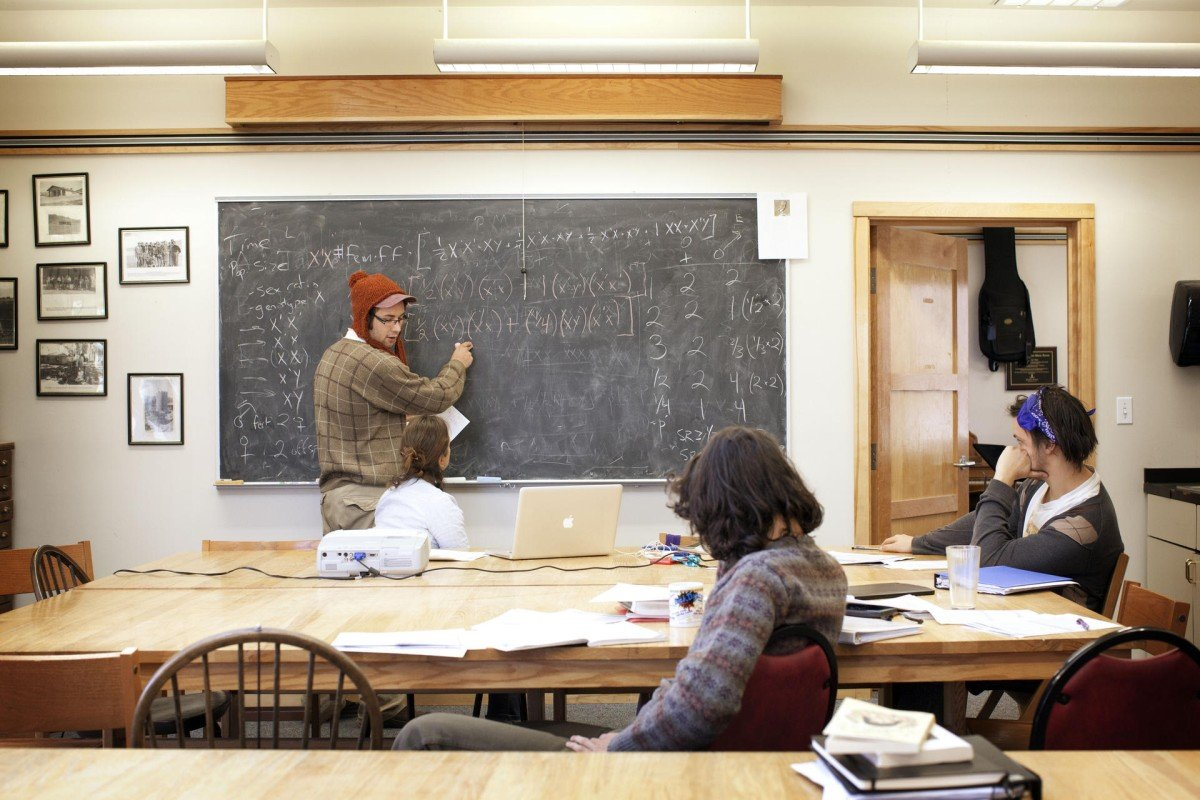 A class in session at Deep Springs College. Photos: Amanda Marsalis/Guardian News & Media