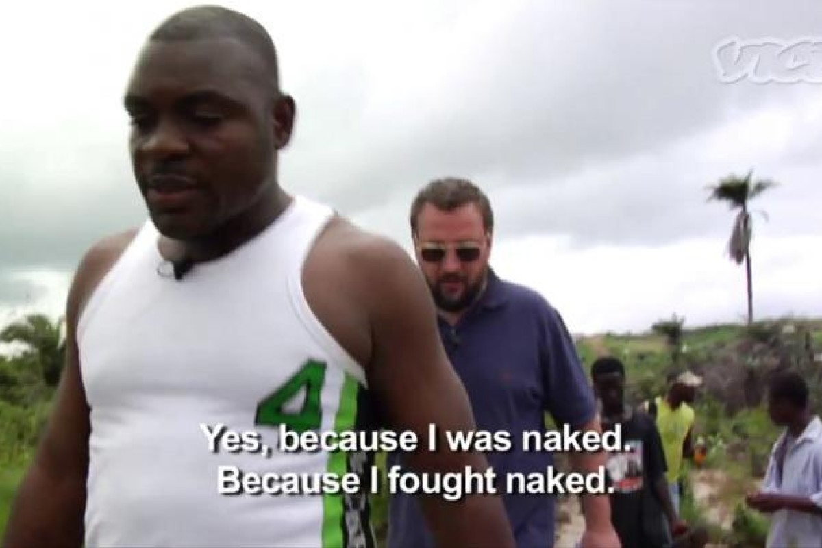Smith talking to General Butt Naked in The Vice Guide to Liberia.