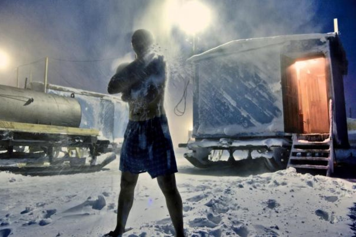 A rubdown with snow after a sauna in the Arctic tundra is a bracing affair. Typically, the men work in the cold, isolated wilderness for the entire winter, returning to civilisation in spring, before the ice roads melt.