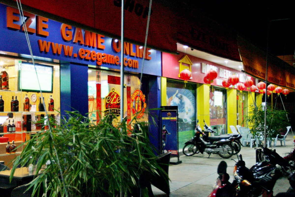 Casinos and football-betting shops in Poipet, Cambodia.