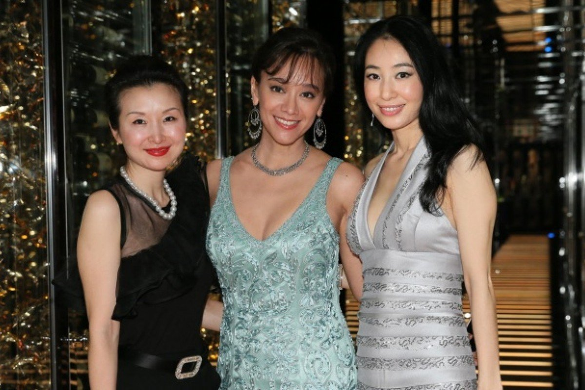 (From left) Jane Jing, Sharon Pong and Helen Rong