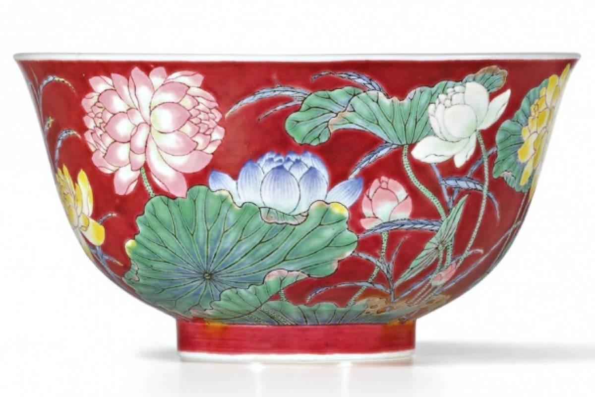 The Qing dynasty bowl, Falangcai, that fetched HK$74 million at a Sotheby's auction. Buyer William Chak says it's priceless.