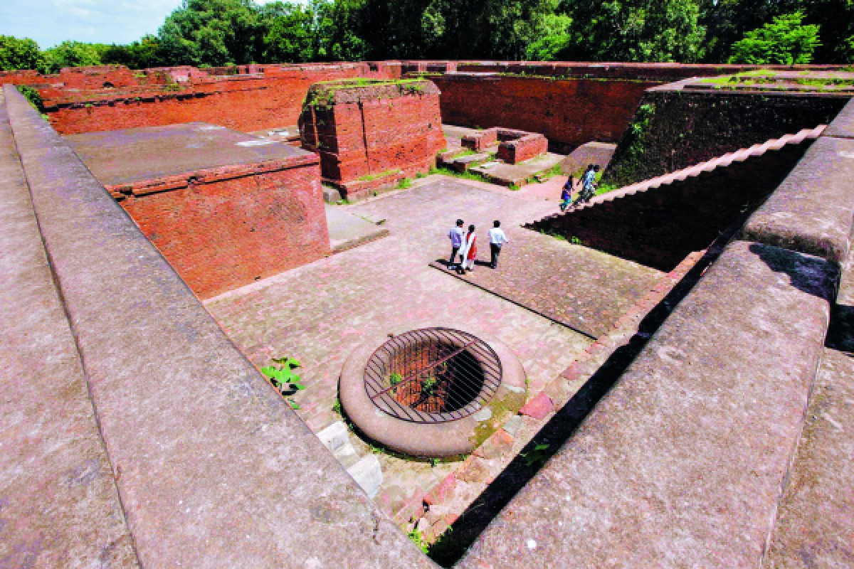 The ruins of the original Nalanda University.