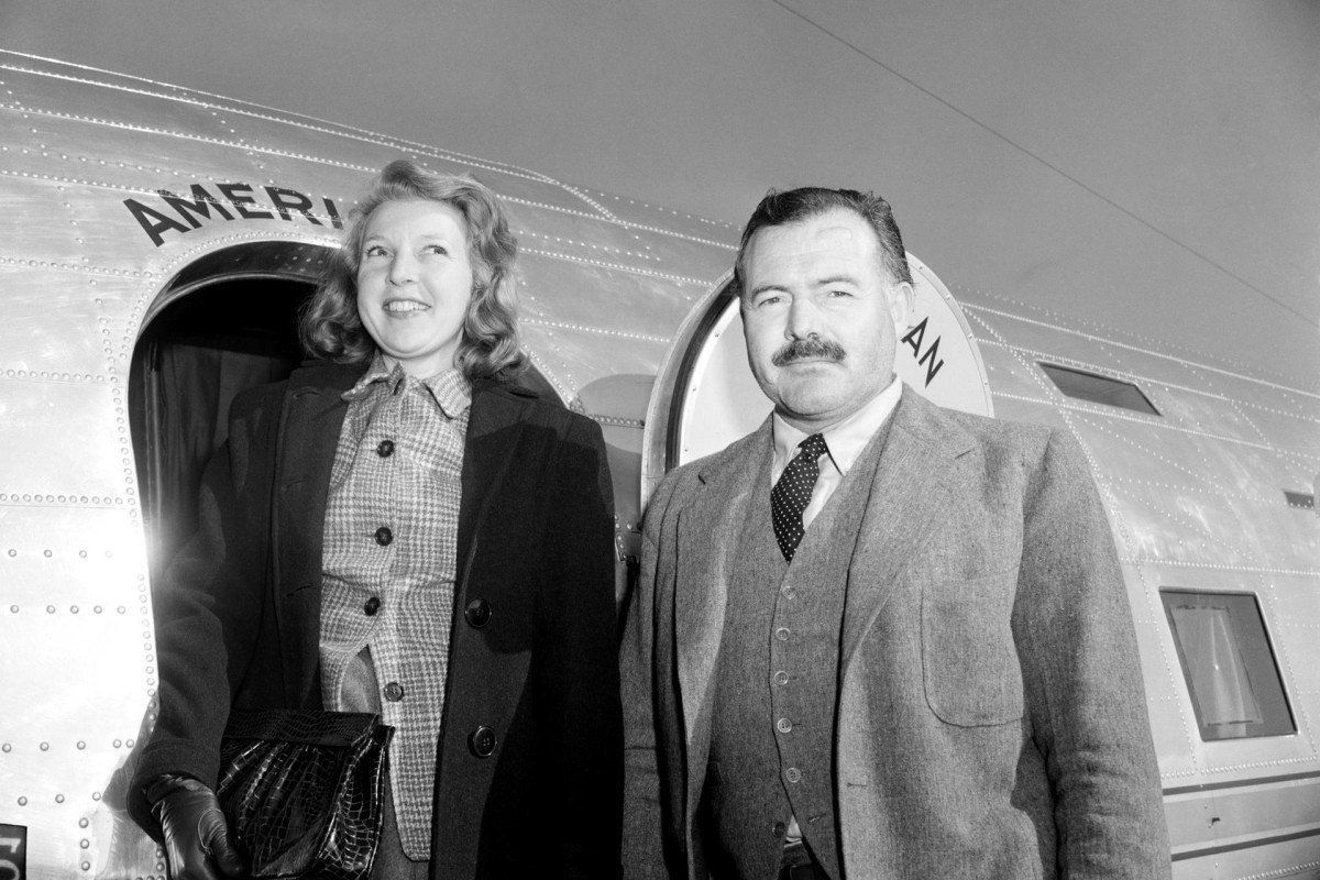 Martha Gellhorn and Ernest Hemingway en route to China, January 31, 1941.