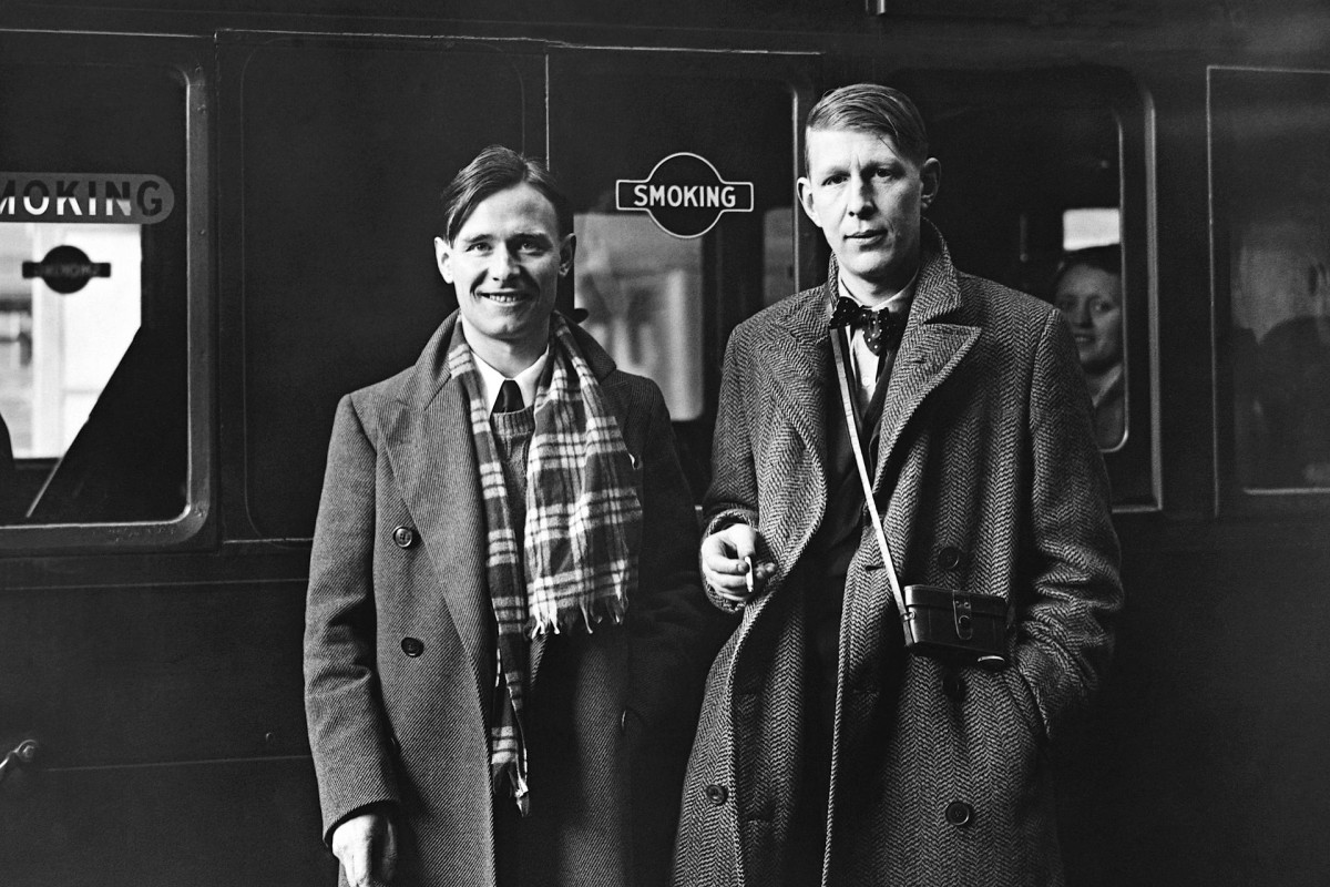 W.H. Auden (right) with Christopher Isherwood in 1938 before departing for China. Photos: Corbis