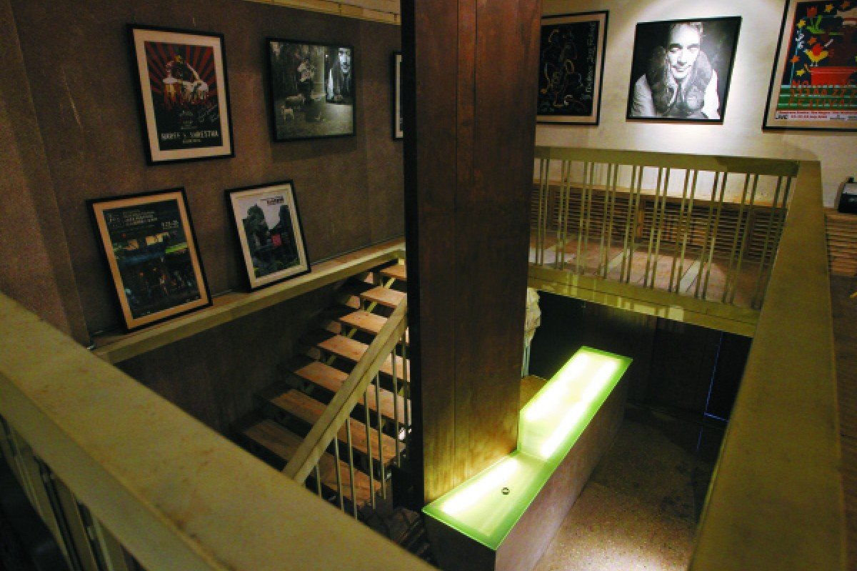 A staircase in the theatre.